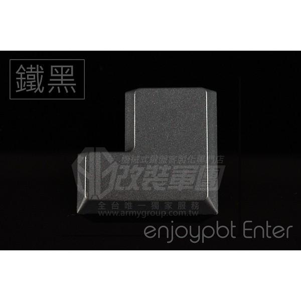 【改裝軍團】[SN18600] enjoypbt 英九 大迴車 Enter PBT鍵帽無刻鐵黑