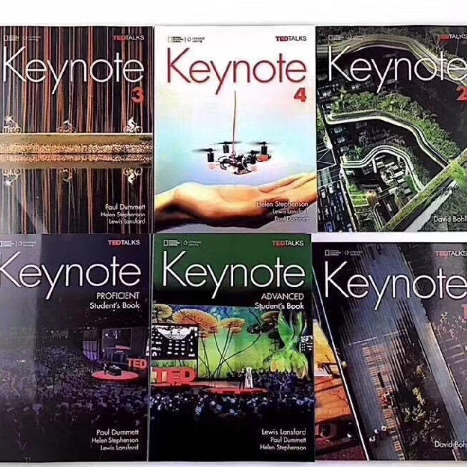 ▬青少綜合教材 keynote  中學英語教材6册 1/2/3/4級國家地理 青少年綜合教材