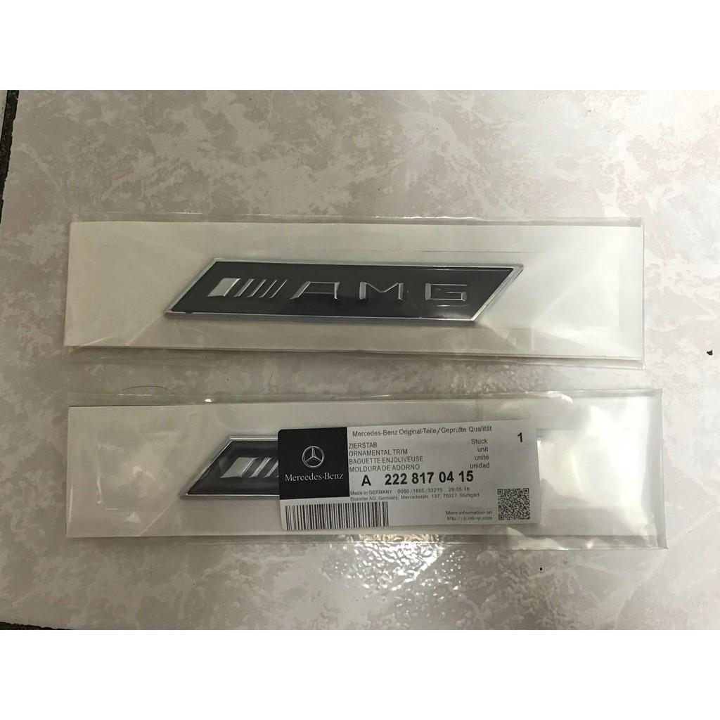 現貨(毅歐進口貿易)BENZ賓士 AMG葉子板 車標側標C級E級S級SL級CLA W220 W211 葉子板 AMG貼紙