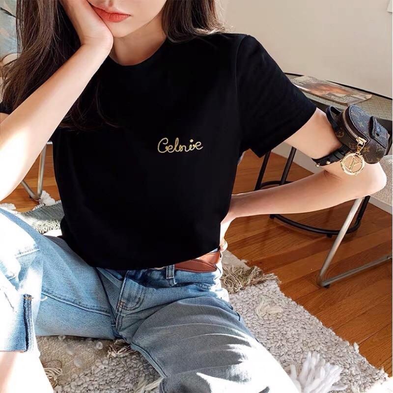 瑟琳Celine 金線刺繡短袖T恤