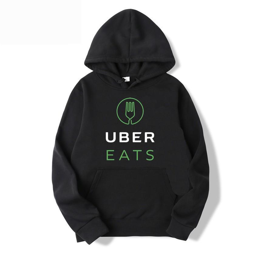 Uber Eats時尚運動衫寬鬆原宿連帽T