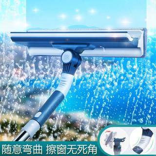 台灣現貨【可刮可擦】擦玻璃器雙面伸縮桿擦窗神器高樓刮水器清潔清洗刷 WpeJ 桃園市