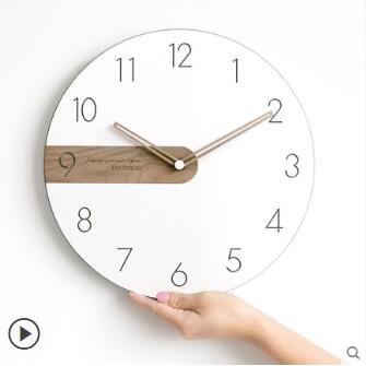 [新品上架/折後價]現代簡約北歐掛鐘客廳臥室家用靜音時鐘掛牆創意時尚藝術石英鐘表