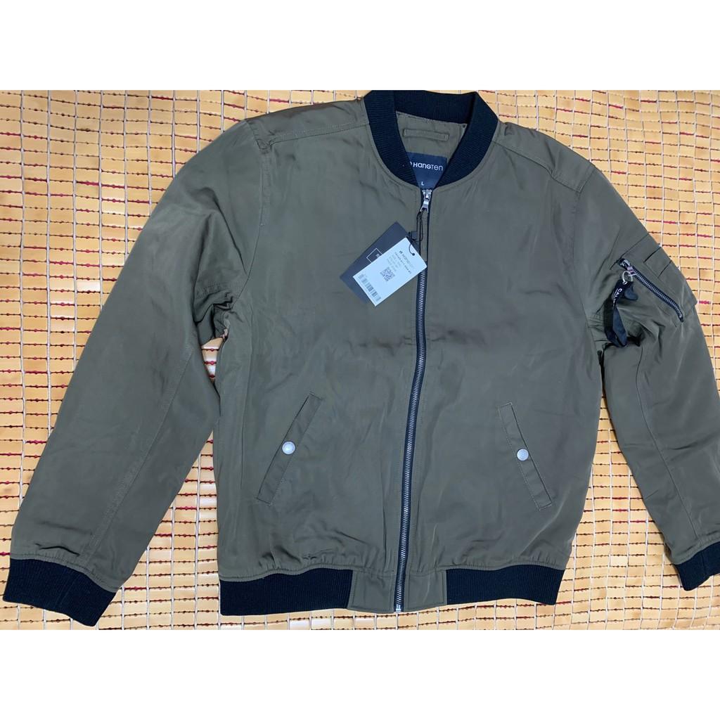 HANG TEN 男款軍綠色飛行外套(全新品)(L號)