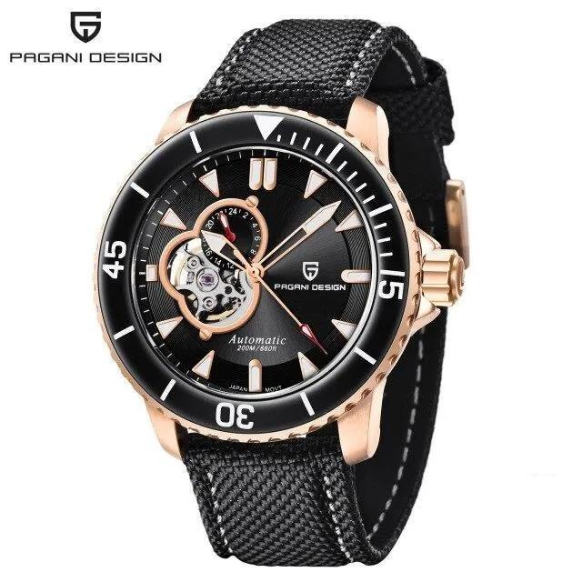 現貨PAGANI DESIGN帕加尼 200米防水機械手錶 原廠正品 PD-1674附大錶盒/保卡/說明書