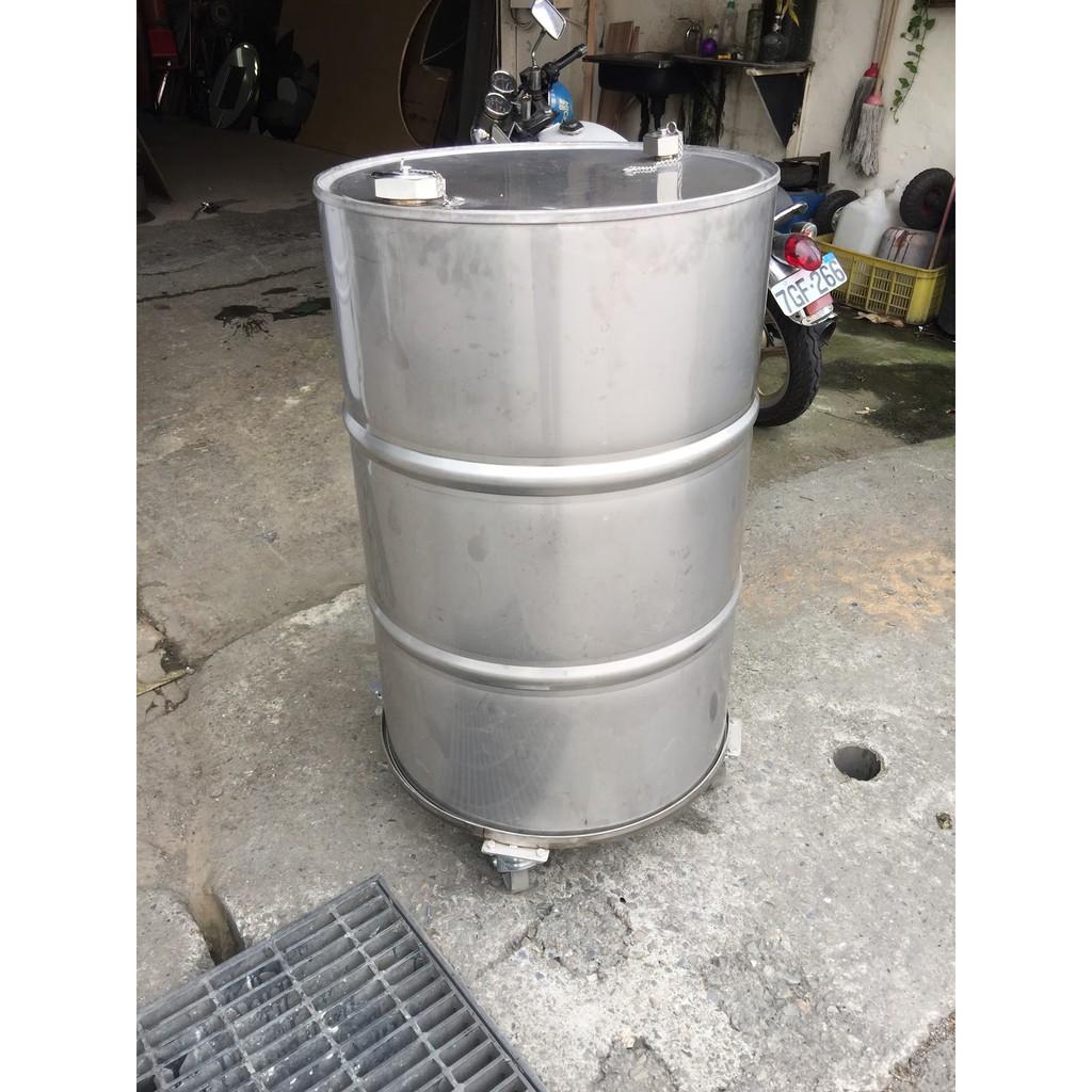 50加侖白鐵油桶加輪架、200公升白鐵油桶、工業風油桶、儲存桶、沙拉油桶、白鐵桶、不銹鋼桶、儲油桶、儲水桶、儲酒桶、 5