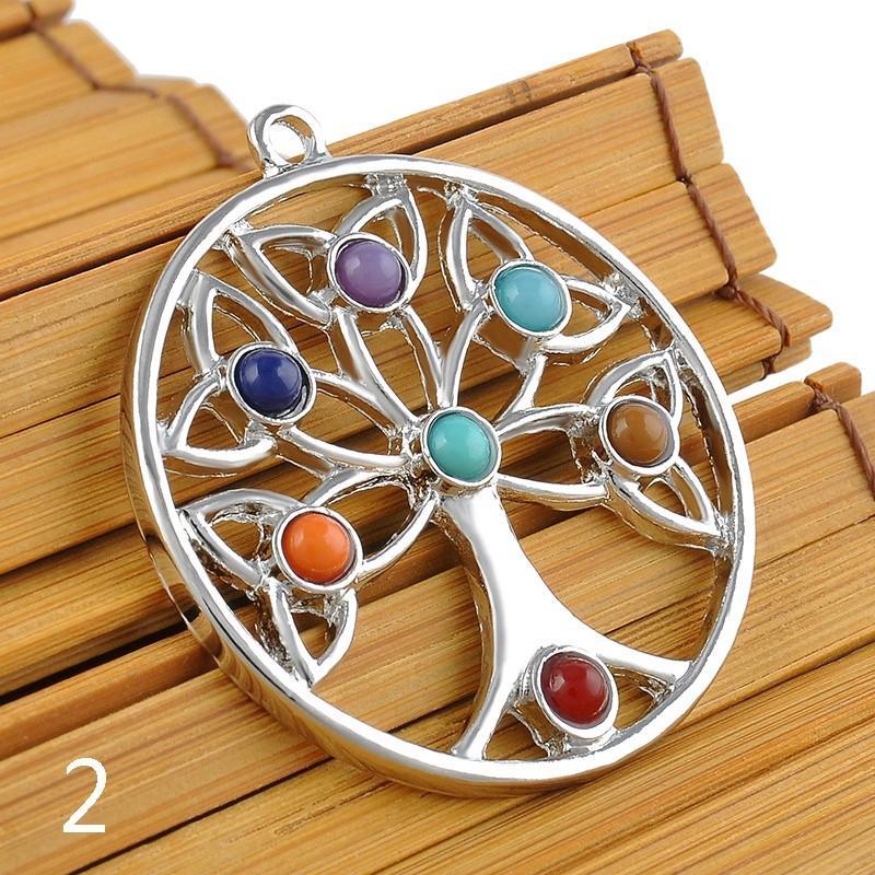 時尚宗教Healing Point Chakra Reiki水晶寶石珠項鍊