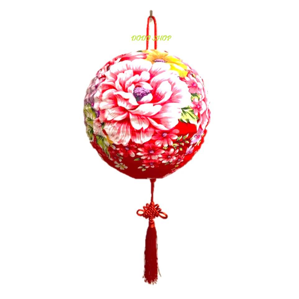 手工花布燈籠20cm/年節燈籠/客家燈籠/客製化燈籠/燈籠