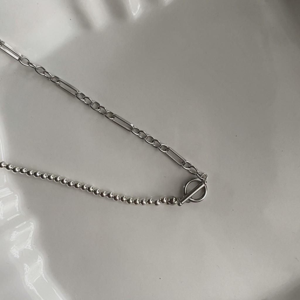 Meno 銀珠醫療鋼設計OT項鍊 可客製化長度 防過敏項鍊 項鍊設計