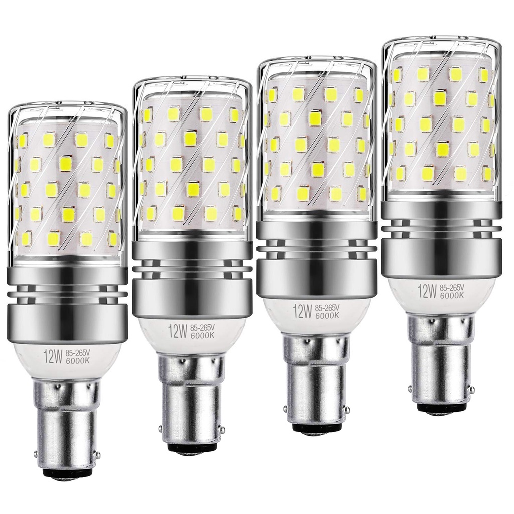 B15 LED 玉米燈泡 12w, 相當於 100W 白熾燈 ,1200lm, 冷白 6000K LED 枝形吊燈燈泡,