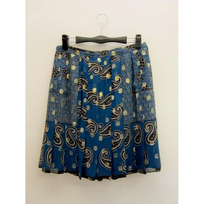 【二次時尚】*Anna Sui 真品*藍色雪紡鑽裙
