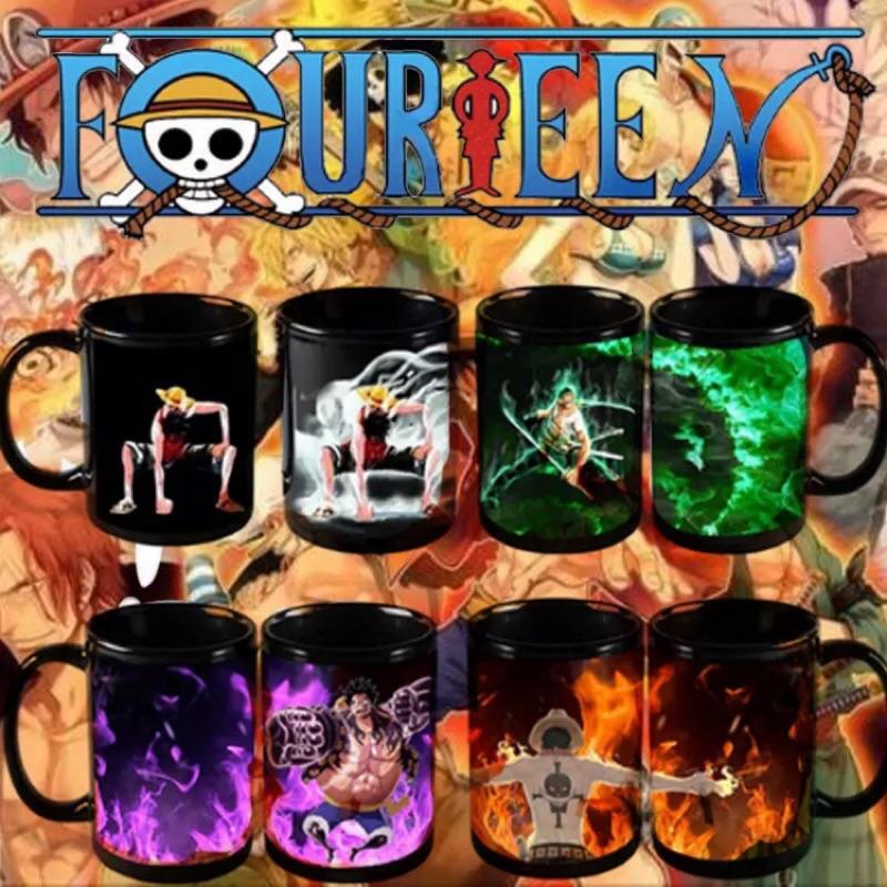 現貨在台 海賊王變色杯 海賊王 魯夫 索隆 艾斯 航海王 海賊王 馬克杯 杯子 送禮 創意水杯 聖誕禮物 交換禮物