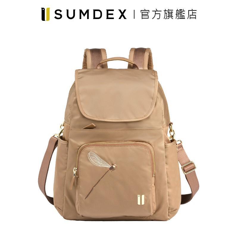 Sumdex 都會三用後背包(蜻蜓版) NOD-765TN-DT 褐色 官方旗艦店