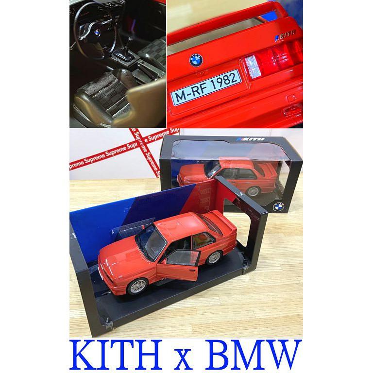 BLACK全新KITH x RONNIE FIEG x BMW E30骨董車型E30 1:18大型模型車RF1982公仔