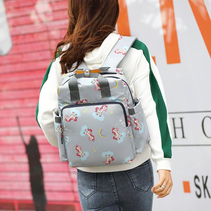 XFXZI 媽媽包多功能雙肩包女韓版寶媽旅行包大容量背包母嬰包2019新款潮