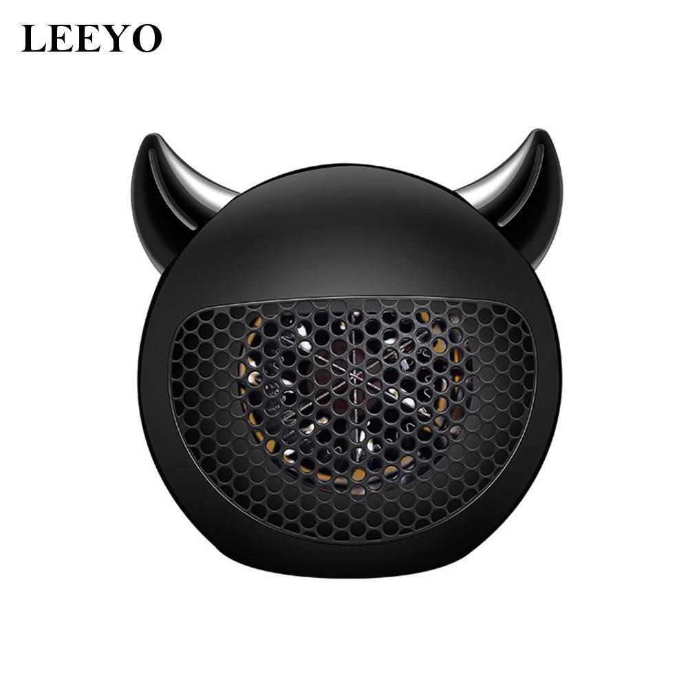 leeyo315小惡魔迷你暖風機400W-黑色  燦爛