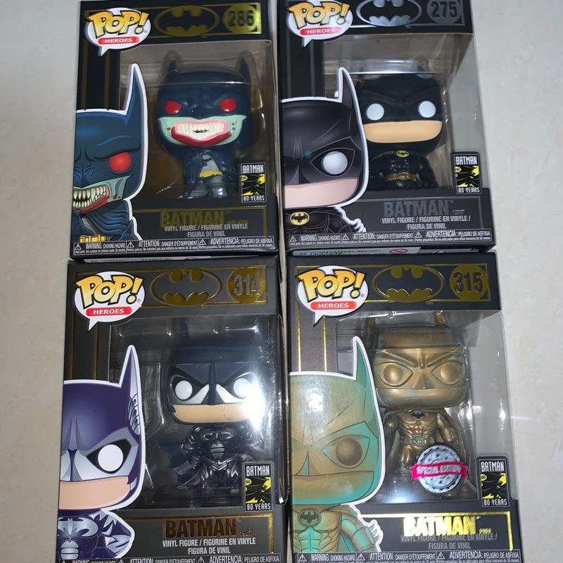 Funko POP 80週年Batman蝙蝠俠 現貨一套 限時特價清空間
