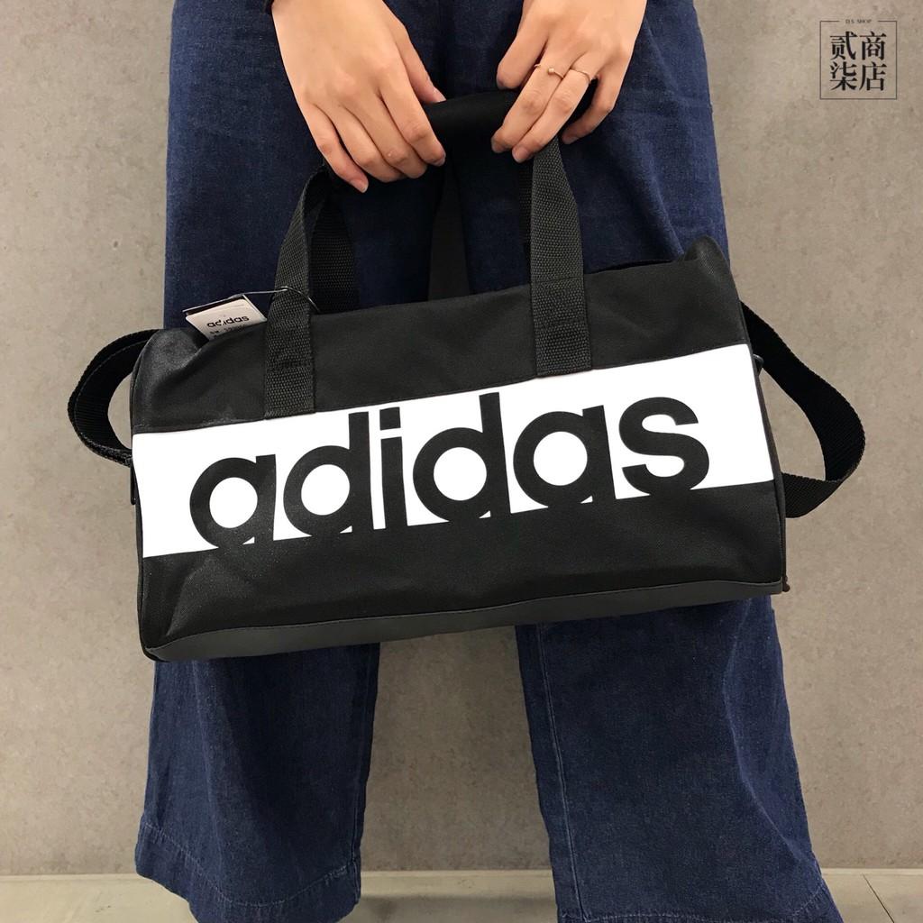 95e48ed65c D.S) adidas Mini Airline Vintage Bag 黑色皮革三葉草側背包BQ1488 ...