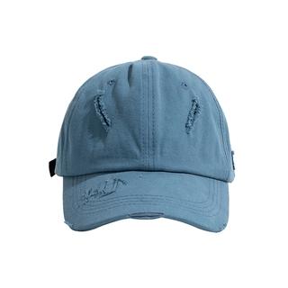 帽子男棒球帽個性工裝復古破洞帽子素色棒球復古帽潮帽女生帽子carhartt 帽子阿美咔嘰復古簡約鴨舌帽