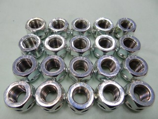 {順加輪胎} 鋁圈 短 螺帽.螺母  電鍍 銀 1.25 1.5牙19頭 非鍛造 適任何車種 起標價為單顆 總長17mm 新北市