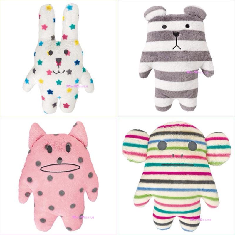 Miu-Mi日本帶回~*【4E071】CRAFTHOLIC白色星空兔/草莓泡泡貓/彩色條紋猴寶貝枕 全家宇宙人