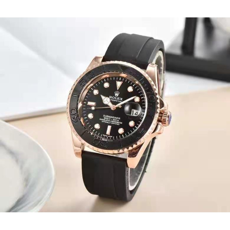 【時代】勞力士/Rolex  腕錶塑膠錶帶勞力士綠水鬼黑水鬼; 全功能石英錶精巧