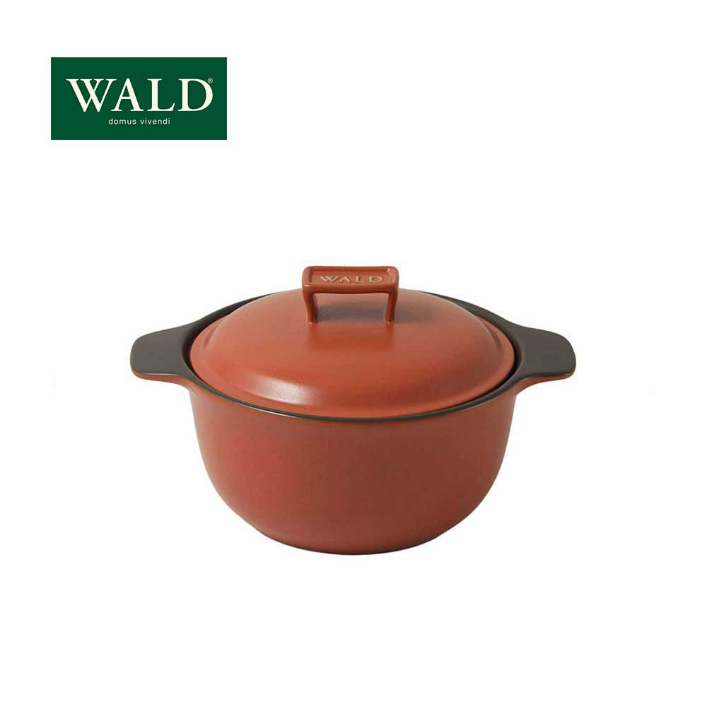 【WALD】 陶鍋系列-20CM燉鍋(磚紅)(附原廠彩盒)