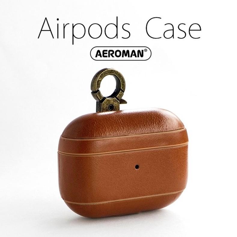 ICARER airpods pro 防摔 掛鉤版 皮革保護套 適用 apple airpodspro 保護套