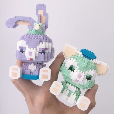 微型立體鉆石拼裝小顆粒益智積木玩具兼容樂高迪士尼星黛露擺件