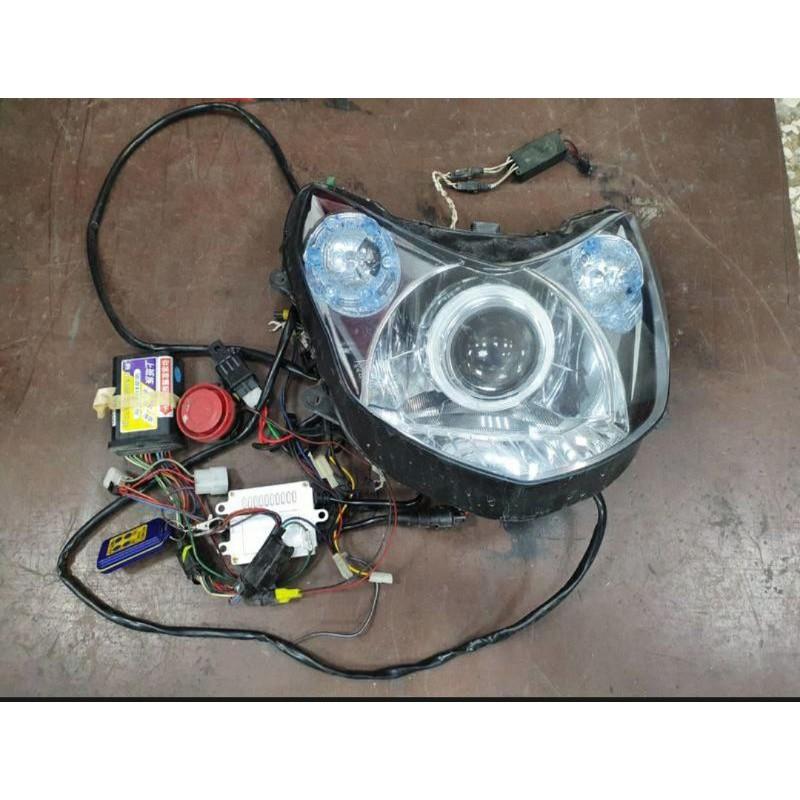 《GTW零件庫》2007~2012 二代 勁戰 遠近魚眼大燈組 LED尾燈組 改裝前方向燈組 防盜器 整組出售