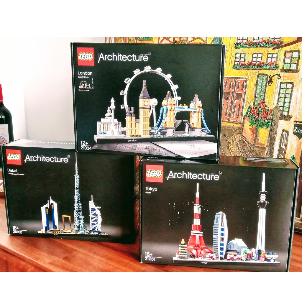 Au La La 澳洲🔷台灣現貨🔶樂高LEGO 21051東京 或21052杜拜 全新正品盒組Architectur