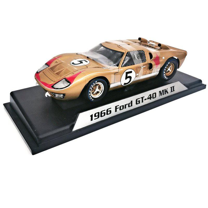 【仿真汽車模型擺件】原廠1:18仿真1966福特Ford GT40合金汽車模型Shelby勒芒賽車收藏 cDnh