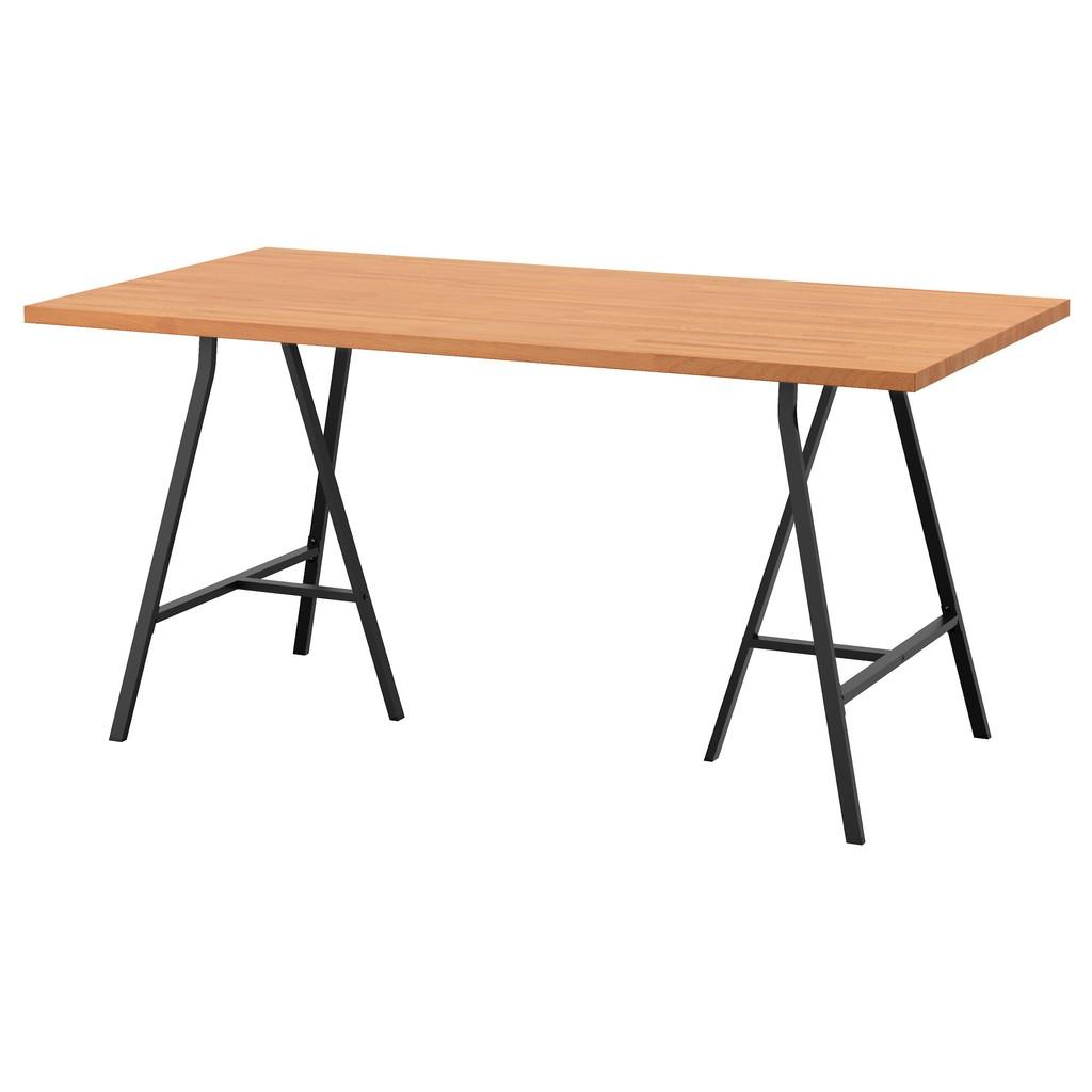 北歐IKEA宜家LERBERG/GERTON電腦桌工作桌辦公桌書桌/櫸木/155x75x70/二手九成新/特$4300