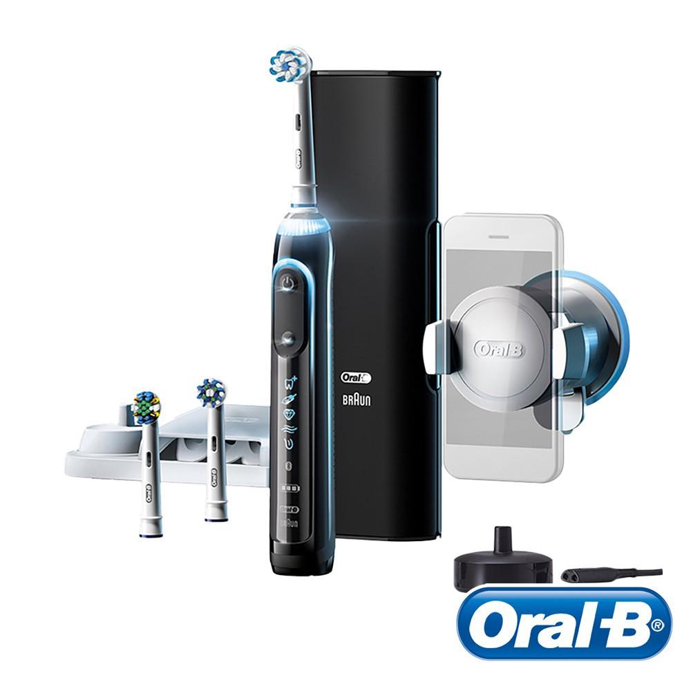 德國百靈Oral-B-Genius10000 3D智慧追蹤電動牙刷(金鑽黑) 送超細毛護齦刷頭EB60-4