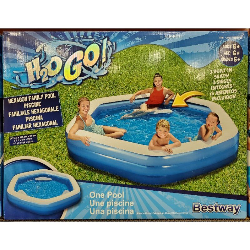 💙現貨💙好市多代購🛒INTEX 六角形家庭游泳池/戲水池