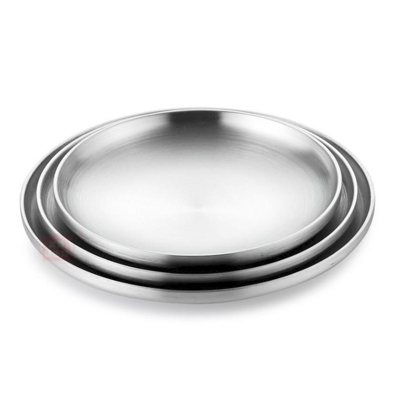 304不鏽鋼砂光雙層隔熱盤 304不鏽鋼餐盤  防燙 烤肉盤 露營 調理盤 料理盤 附發票【賣貴請告知】