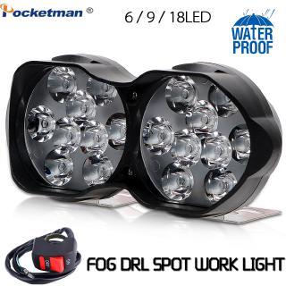 30W LED工作大燈3000LM汽車摩托車自行車防霧燈DRL聚光燈LED燈DIY踏板車白色外部6/ 9/ 18 LED大燈