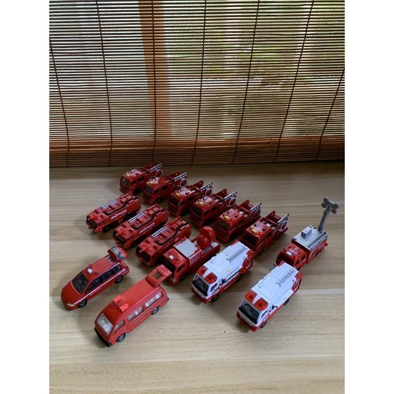 日本 トミカ TAKARA TOMY TOMICA 二手中古車 消防車 消防救護車 灑水車 雲梯車 拖吊車 紅標 多美