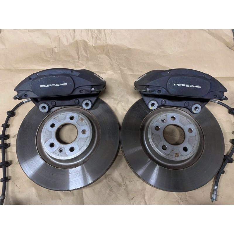 Porsche Macan 原廠對4活塞卡鉗 前碟盤 來令片 對4卡鉗 Brembo 前卡鉗組 Q5 Tiguan A4