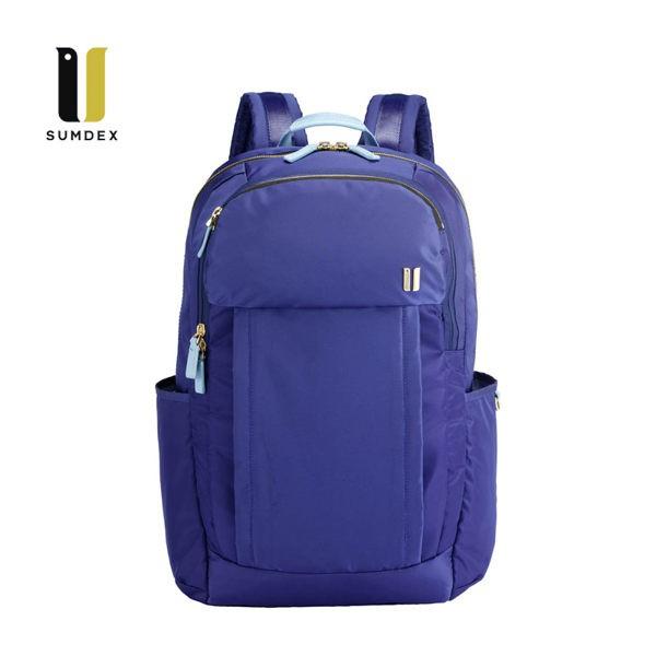 SUMDEX 14.1吋+10吋平板 行動兩用後背包NON-754TB暮光藍