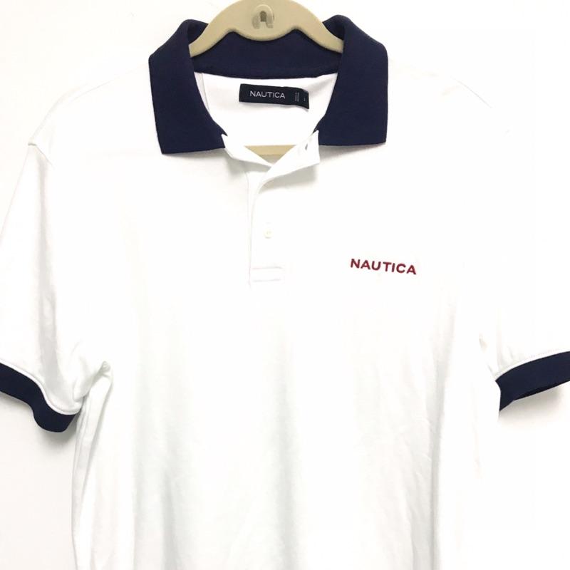 ❤️全新現貨❤️ NAUTICA 男大人白色短袖polo衫