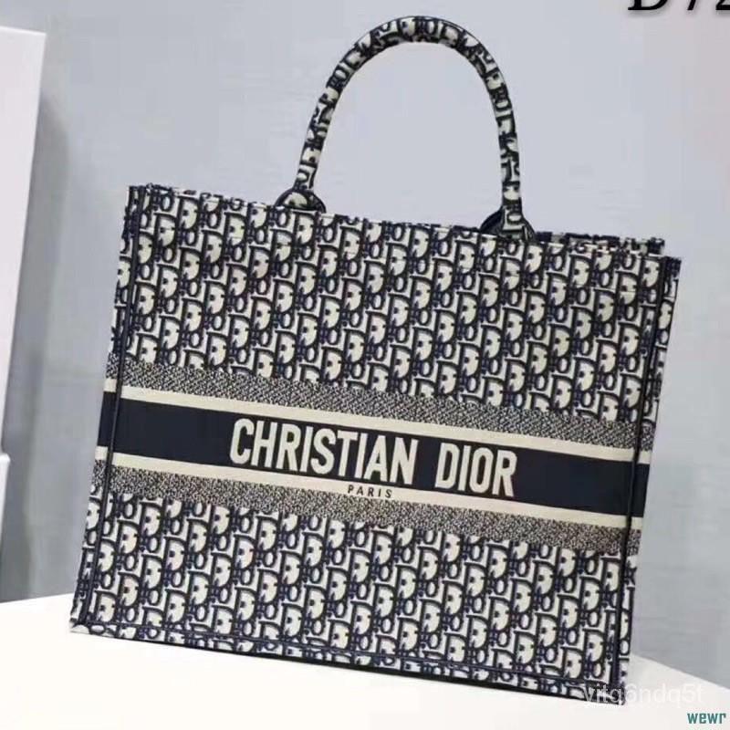 ⭐最靚的妞⭐-迪奧Dior 2018經典老花 刺繡帆布手提包 單肩包 Christian Dior帆布包 女包 迪奧🤗搭