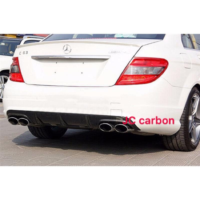 Benz w204前期碳纖維後下巴 c300卡夢後下巴63款