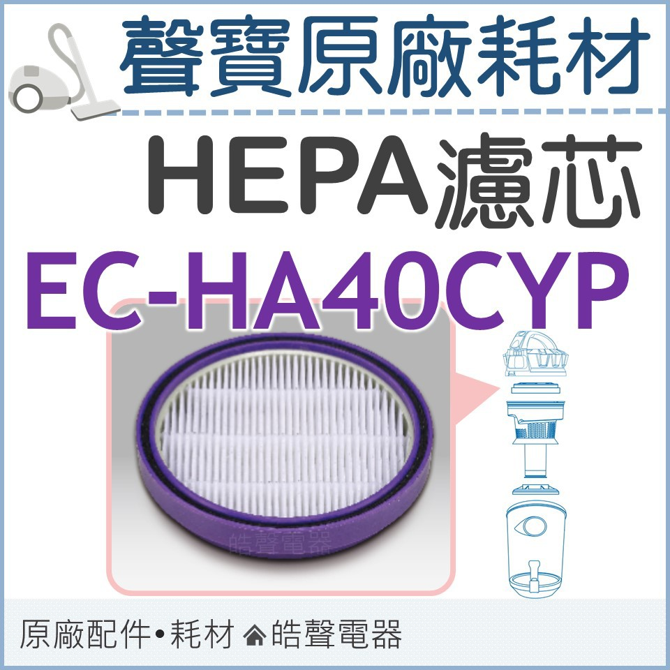 現貨 聲寶吸塵器EC-HA40CYP濾芯 濾網 HEPA濾芯 HEPA濾網 吸塵器濾網 原廠耗材 【皓聲電器】