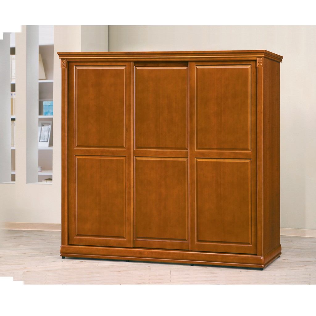 【愛比王】賽德克7尺實木樟木色拉門衣櫥