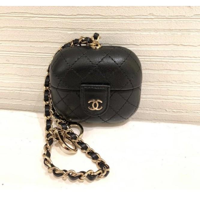 全新現貨 Chanel Airpods Pro Case Airpods 吊飾包 黑