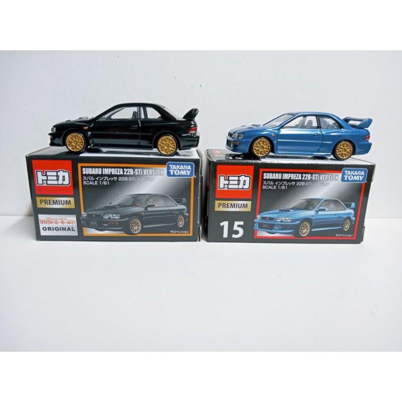 (現貨)Tomica Premium15(TP-15)速霸陸Subaru Impreza 22B-Sti 藍/黑色双車