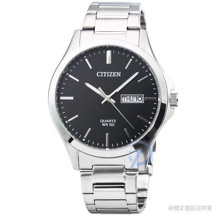 【CITIZEN】星辰簡約風格石英鋼帶錶-黑面 / BF2001-80E