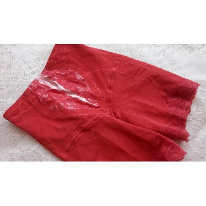 *絕色塑身衣館*9IBI【善美得~紅色調整型束褲】~76號~直購790元~