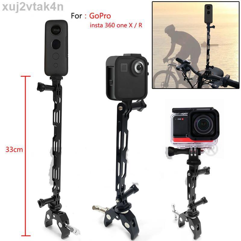 用於 Insta360 One R X Gopro Max 配件的鋁合金摩托車自行車騎行拍攝隱藏式自拍便攜式汽車支架桿